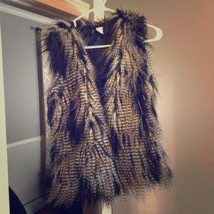 Animal prints fur vest